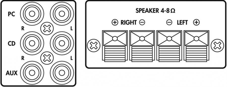 monacor sa-100 stereo forsterker