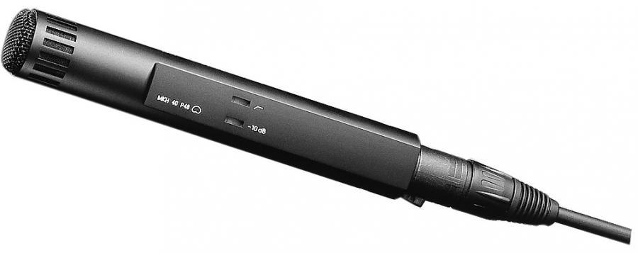 sennheiser mkh 40 p48 kondensator mikrofon m kardioide voss musikk. Black Bedroom Furniture Sets. Home Design Ideas