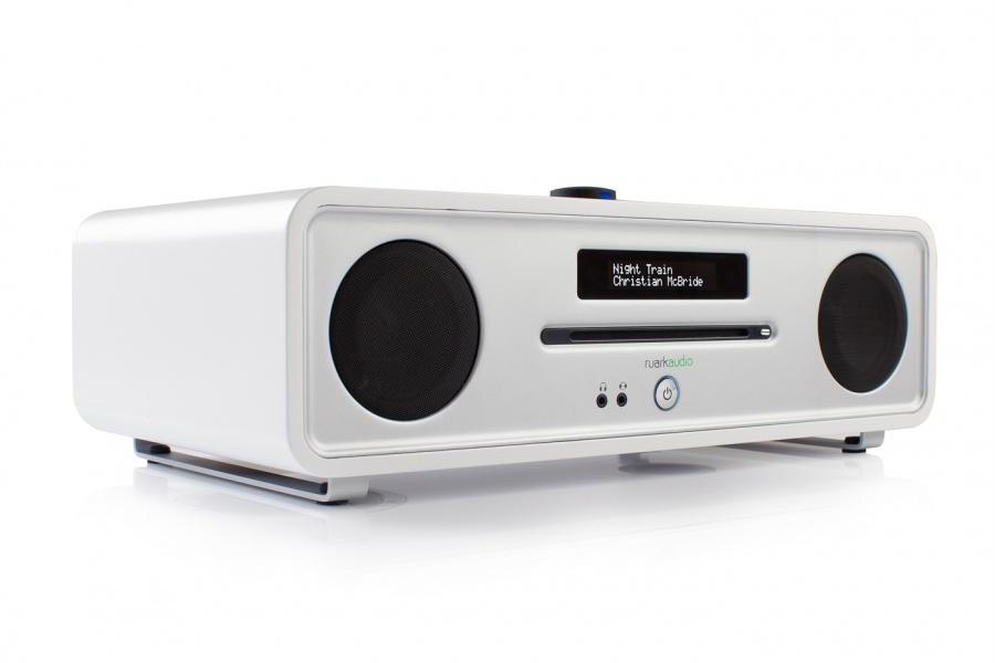 Lækker Ruark R4 MkIII DAB Radio CD-Spiller Soft White - Voss Musikk SB-62
