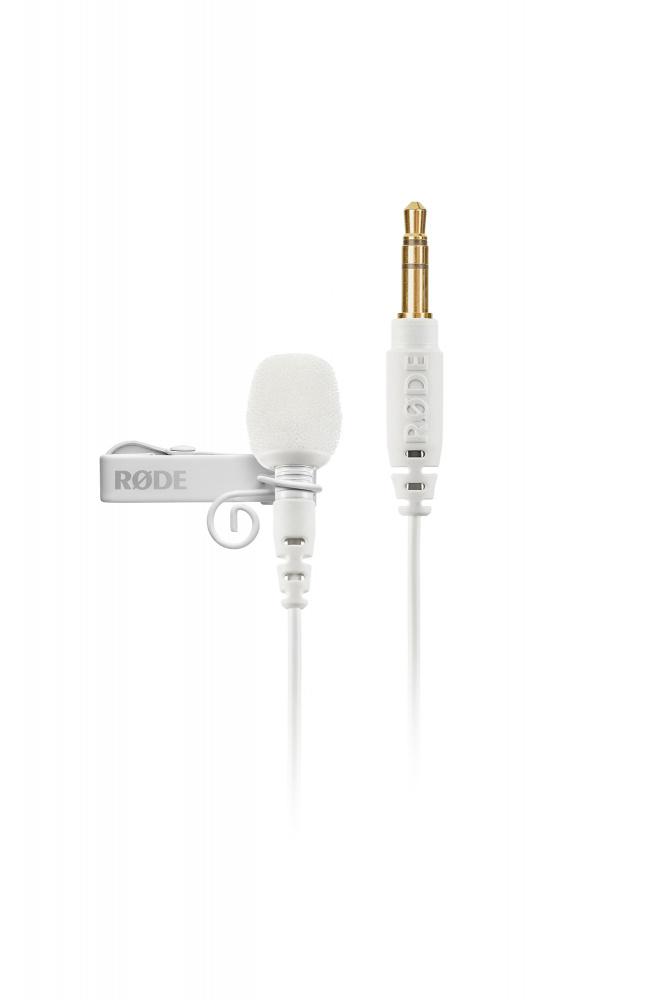 Røde Lavalier GO White Mygg Mikrofon 3,5mm TRS Hvit Voss