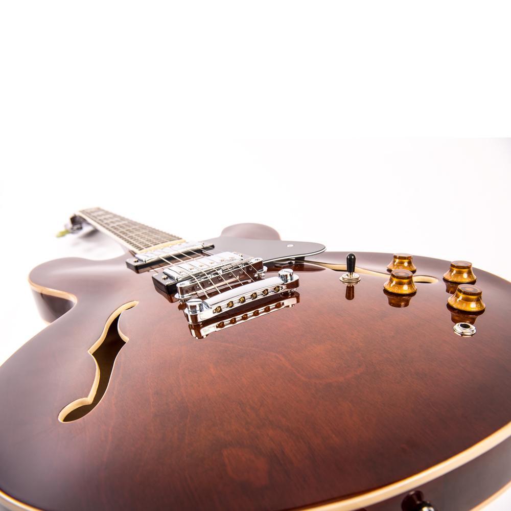 Vintage VSA500W El.gitar Semi Acoustic Reissued Walnut